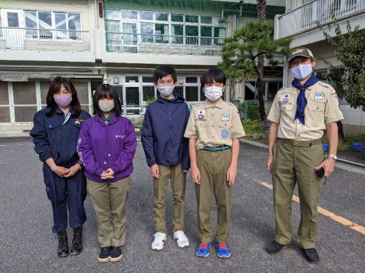町田市総合防災訓練・町田ボーイスカウト20団の皆さんと!