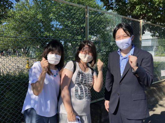 「中学校によりよい給食をとどけ隊@町田」の代表、清水さんと❣